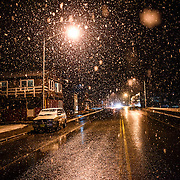 Heavy, wet snow pounds down on Haines, Alaska