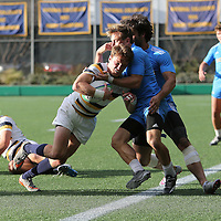 BERKELEY, CA - NOVEMBER 08:  Thomas Robles #1 of California scores a try during the PAC Rugby 7's Championship between UCLA and California at Witter Rugby Field at the University of California on November 8, 2015 in Berkeley, California. California won the match by a score of 17-5. (Photo by Alex Menendez/Getty Images) *** Local Caption *** Thomas Robles