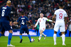 Wayne Rooney of England takes on Tyler Adams of USA - Mandatory by-line: Robbie Stephenson/JMP - 15/11/2018 - FOOTBALL - Wembley Stadium - London, England - England v United States of America - International Friendly