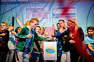 OEGSTGEEST  - Princess Laurentien together with students from group 7 of Primary School de Bolster from Amersfoort during the launch of the Go Do. The national program focuses on behavioral change and has three pillars: healthier eating, more exercise and relaxation. copyrught Robin utrecht