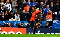 Photo: Alan Crowhurst.<br />Chelsea v FC Porto. UEFA Champions League. Last 16, 2nd Leg. 06/03/2007. Porto's Ricardo Quaresma celebrates his goal 0-1.