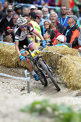 01.06.2014, Bullentaele, Albstadt, GER, UCI Mountain Bike World Cup, Cross Country Damen, im Bild Pauline Ferrand Prevot Frankreich // during Womens Cross Country Race of UCI Mountainbike Worldcup at the Bullentaele in Albstadt, Germany on 2014/06/01. EXPA Pictures © 2014, PhotoCredit: EXPA/ Eibner-Pressefoto/ Langer<br /> <br /> *****ATTENTION - OUT of GER*****