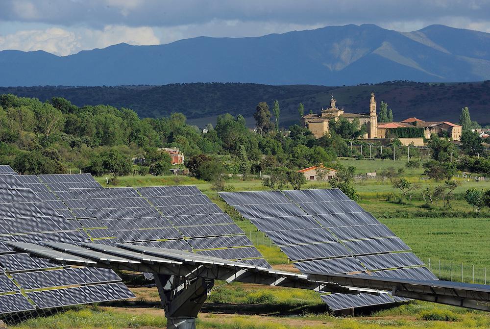 Solar energy panel powerstation, Ciudad rodrigo, Salamanca Region, Castilla y León, Spain