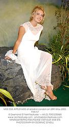 MISS ZOE APPLEYARD at a ball in London on 28th May 2002.PAK 57