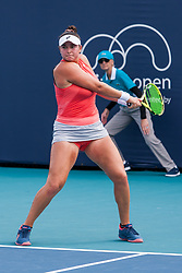 March 18, 2019 - Miami Gardens, FL, U.S. - MIAMI GARDENS, FL - MARCH 18: Caroline Dolehide (USA) in action during the Miami Open on March 18, 2019 at Hard Rock Stadium in Miami Gardens, FL. (Photo by Aaron Gilbert/Icon Sportswire) (Credit Image: © Aaron Gilbert/Icon SMI via ZUMA Press)