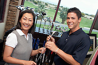 Couple in a Golf Shop