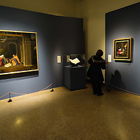 VENICE, ITALY - NOVEMBER 23:  A general view during the the press preview of Tribute to Lorenzo Lotto - The Hermitage Paintings at Accademia Gallery on November 23, 2011 in Venice, Italy. The exhibition which includes two very rare & never seen before paintings opens from the 24th November 2011 to 26th February 2012 in Italy.