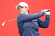 Lydia Hall tees off from the 1st during the Ricoh Women's British Open golf tournament at Royal Lytham and St Annes Golf Club, Lytham Saint Annes, United Kingdom on 4 August 2018. Picture by Simon Davies.