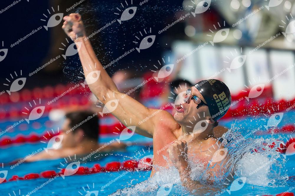 Cesar Cielo Filho BRA gold medal<br /> Men's 50m freestyle final<br /> 15th FINA World Aquatics Championships<br /> Palau Sant Jordi, Barcelona (Spain) 03/08/2013 <br /> &copy; Giorgio Perottino / Deepbluemedia.eu / Insidefoto