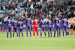 May 5, 2019 - Toulouse, FRANCE - HOMMAGE AUX VICTIMES DE LA CATASTROPHE DE FURIANI - EQUIPE DE FOOTBALL DE TOULOUSE (Credit Image: © Panoramic via ZUMA Press)