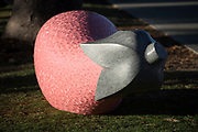 Akiho Tata Pink Eggplant - Sculpture By The Sea, Cottesloe 2018 - Photograph by David Dare Parker