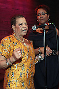 28 April 2011- New York,  NY- l to r: Ntozake Shange and Harriette Cole at The Sparkling Celebration for the Birthday of Harriete Cole held at the Galapagos Art Space on April 27, 2011 in Brooklyn, NY Photo Credit: Terrence Jennings