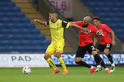 Oxford United's Liam Sercombe and Brighton & Hove Albion's Bruno Saltor (Captain) during the Pre-Season Friendly match between Oxford United and Brighton and Hove Albion at the Kassam Stadium, Oxford, England on 26 July 2016.