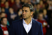 Nottingham Forest manager Philippe Montanier during the EFL Cup match between Nottingham Forest and Arsenal at the City Ground, Nottingham, England on 20 September 2016. Photo by Jon Hobley.