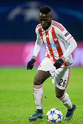 Arthur Masuaku #26 of Olympiakos during football match between GNK Dinamo Zagreb and Olympiakos in Group F of Group Stage of UEFA Champions League 2015/16, on October 20, 2015 in Stadium Maksimir, Zagreb, Croatia. Photo by Urban Urbanc / Sportida