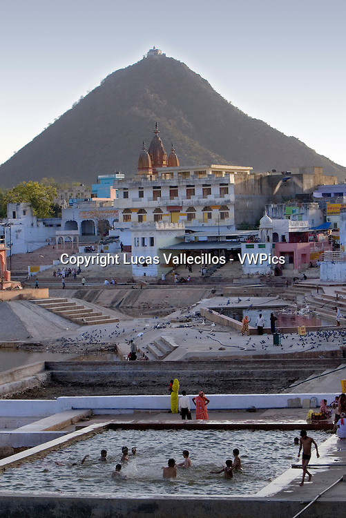 Ghats at the holy lake,pushkar, Rajasthan, india