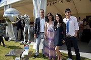 ROHAN VARMA; LORENZO QUINN;  SONIA VARMA; ROMA VARMA, The Dalwhinnie Crook  charity Polo match  at Longdole  Polo Club, Birdlip  hosted by the Halcyon Gallery. . 12 June 2010. -DO NOT ARCHIVE-© Copyright Photograph by Dafydd Jones. 248 Clapham Rd. London SW9 0PZ. Tel 0207 820 0771. www.dafjones.com.