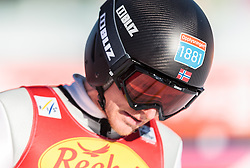 30.01.2016, Casino Arena, Seefeld, AUT, FIS Weltcup Nordische Kombination, Seefeld Triple, Skisprung, Wertungssprung, im Bild Haavard Klemetsen (NOR) // Haavard Klemetsen of Norway reacts after his Competition Jump of Skijumping of the FIS Nordic Combined World Cup Seefeld Triple at the Casino Arena in Seefeld, Austria on 2016/01/30. EXPA Pictures © 2016, PhotoCredit: EXPA/ JFK