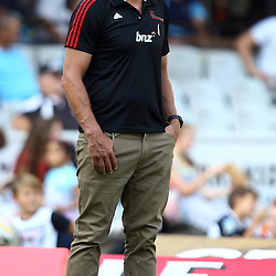 DURBAN, SOUTH AFRICA - MARCH 26:  Todd Blackadder (Head Coach) of the BNZ Crusaders during the Super Rugby match between Cell C Sharks and BNZ Crusaders at Growthpoint Kings Park on March 26, 2016 in Durban, South Africa. (Photo by Steve Haag)<br /> <br /> images for social media must have consent from Steve Haag