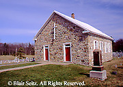 PA Historic Places, Rural Historic Stone Church, Central Pennsylvania