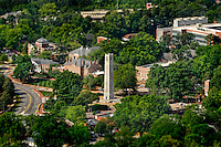 Tilt-shift version of campus aerial.