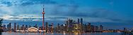 60912-00308 Toronto skyline at dusk from Toronto Island Park Toronto, Ontario Canada