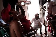 Junco do Maranhao, Brazil, June 26 of 2013:  Bolsa Familia em Junco do Maranhao. Homens passam a tarde de quarta-feira bebendo pinga. (photo: Caio Guatelli)