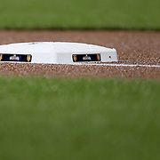 NEW YORK, NEW YORK - October 5: The Wild Card first base during the San Francisco Giants Vs New York Mets National League Wild Card game at Citi Field on October 5, 2016 in New York City. (Photo by Tim Clayton/Corbis via Getty Images)