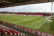 The Lamex Stadium, home of Stevenage during the EFL Sky Bet League 2 match between Stevenage and Forest Green Rovers at the Lamex Stadium, Stevenage, England on 26 January 2019.