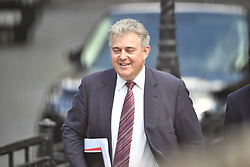 © Licensed to London News Pictures. 17/06/2019. London, UK. Conservative party chairman BRONDON LEWIS is seen arriving at Parliament ahead of a leadership hustings. Boris Johnson has cemented his position as favourite to become the next Prime Minster after winning a landslide in the first round of the conservative party's leadership race. Photo credit: Ben Cawthra/LNP