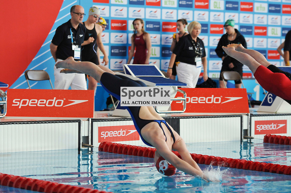Lily Snell in the Womens Open 50m Freestyle Heats British Swimming Championships day four, 17th April 2015.
