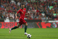 June 7, 2018 - Lisbon, Portugal - Portugal's midfielder Bruno Fernandes in action during the FIFA World Cup Russia 2018 preparation football match Portugal vs Algeria, at the Luz stadium in Lisbon, Portugal, on June 7, 2018. (Portugal won 3-0) (Credit Image: © Pedro Fiuza/NurPhoto via ZUMA Press)