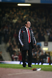 London, England - Tuesday, January 30, 2007: Liverpool manager Rafael Benitez agaiunst West Ham United during the Premiership match at Upton Park. (Pic by Chris Ratcliffe/Propaganda)