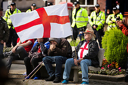 © Licensed to London News Pictures. 05/09/2015. Rotherham, UK. Far Right group Britain First hold a day of action in Rotherham, the town hit the headlines when large scale grooming was uncovered & local authorities were accused of a cover up. Photo credit: Andrew McCaren/LNP