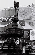 Teenagers, Eros statue, Piccadilly Circus, London, UK, 1981