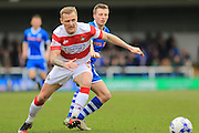 Gary McSheffrey, Jamie Allen during the Sky Bet League 1 match between Rochdale and Doncaster Rovers at Spotland, Rochdale, England on 2 April 2016. Photo by Daniel Youngs.