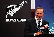 Prime Minister John Key, Press conference to announce Auckland, New Zealand as the host city for the 2017 World Masters Games. Auckland Town Hall Councillors Chambers, Auckland. 15 March 2012. Photo: William Booth/photosport.co.nz