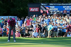 September 1, 2018 - Norton, Massachusetts, United States - Tiger Woods putts the 11th green during the second round of the Dell Technologies Championship. (Credit Image: © Debby Wong/ZUMA Wire)