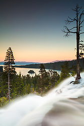 """Eagle Falls at Emerald Bay 4"" - Photograph taken at sunset of Eagle Falls and Emerald Bay, Lake Tahoe."