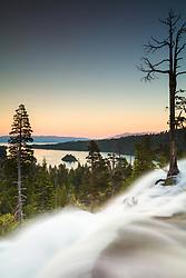 """""""Eagle Falls at Emerald Bay 4"""" - Photograph taken at sunset of Eagle Falls and Emerald Bay, Lake Tahoe."""