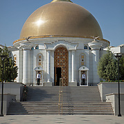"Mausoleum of the former ""President for Life"", Saparmurat Atayevich Niyazov, Ashgabat, Turkmenistan"