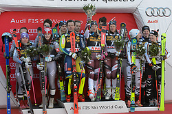 March 16, 2018 - Are, Sweden - The podium for the team event at the World Cup Finals in Are Sweden..Sweden won, France came in second, Germany third. (Credit Image: © Christopher Levy via ZUMA Wire)
