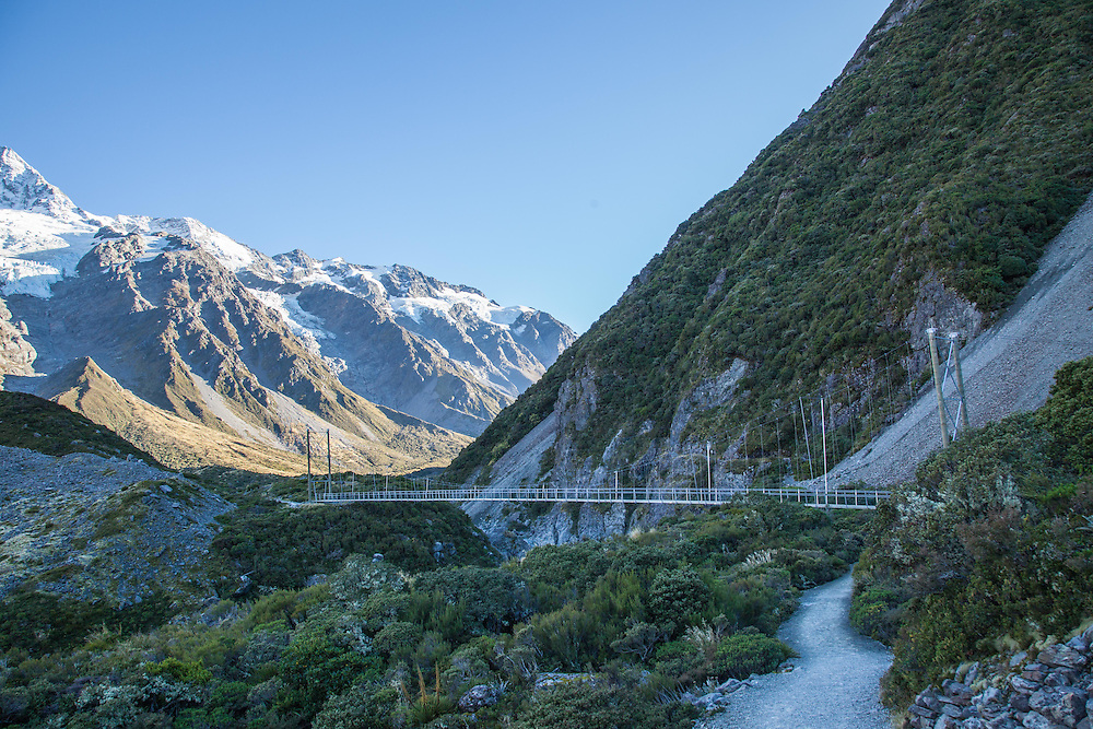 Second swing bridge on the Hooker Valley track