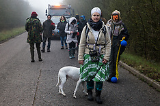 2020-02-06 Environmental activists stall truck delivery to HS2 Denham site
