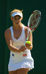LONDON, ENGLAND - Monday, June 30, 2008: Tamaryn Hendler (BEL) during her girls' singles first round match on day seven of the Wimbledon Lawn Tennis Championships at the All England Lawn Tennis and Croquet Club. (Photo by David Rawcliffe/Propaganda)