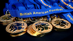 Winners medals for the BAFA Britbowl National League Finals 2017 - Mandatory by-line: Robbie Stephenson/JMP - 26/08/2017 - AMERICAN FOOTBALL - Sixways Stadium - Worcester, England - East Kilbride Pirates v London Blitz - BAFA Britbowl National League Finals 2017