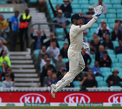 September 11, 2018 - London, Greater London, United Kingdom - England's Jos Buttler celebrates the wicket of Rishabh Pant of India.during International Specsavers Test Series 5th Test match Day Five  between England and India at Kia Oval  Ground, London, England on 11 Sept 2018. (Credit Image: © Action Foto Sport/NurPhoto/ZUMA Press)