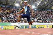 Pedro Pablo Pichardo (POR) places second in the triple jump at 57-3¾ (17.47m)during the 39th Golden Gala Pietro Menena in an IAAF Diamond League meet at Stadio Olimpico in Rome on Thursday, June 6, 2019. (Jiro Mochizuki/Image of Sport)
