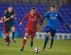 BIRKENHEAD, ENGLAND - Tuesday, December 19, 2017: Liverpool's Juanma Garcia during the Under-23 FA Premier League International Cup Group A match between Liverpool and PSV Eindhoven at Prenton Park. (Pic by David Rawcliffe/Propaganda)