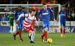 Chris Forrester of Peterborough United gets away from Alfie Beestin of Doncaster Rovers - Mandatory by-line: Joe Dent/JMP - 01/01/2018 - FOOTBALL - ABAX Stadium - Peterborough, England - Peterborough United v Doncaster Rovers - Sky Bet League One